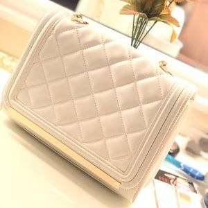 Aldo white quilted bag